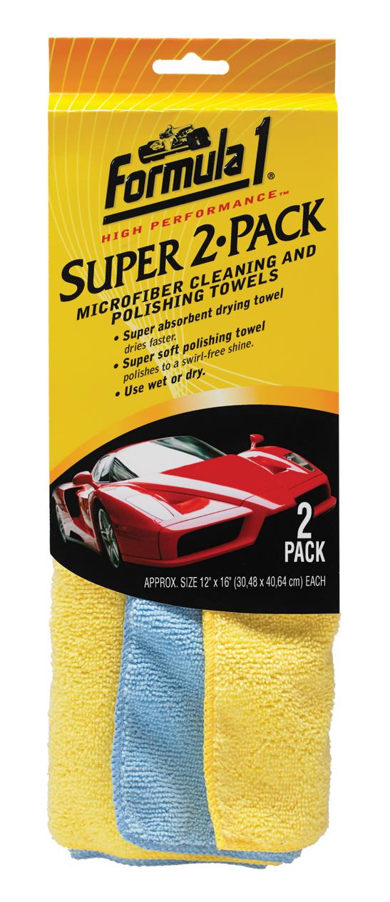 Микрофибърна полираща и подсушаваща кърпа 31 х 41 см - 2 броя FORMULA 1