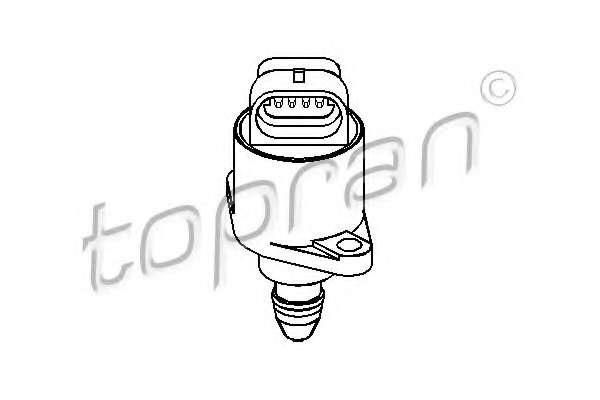 регулиращ клапан на свободния ход, захранване с въздух TOPRAN